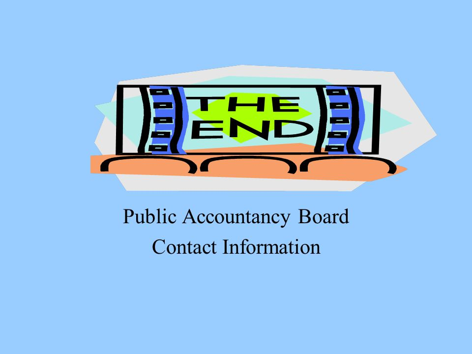 Public Accountancy Board Contact Information