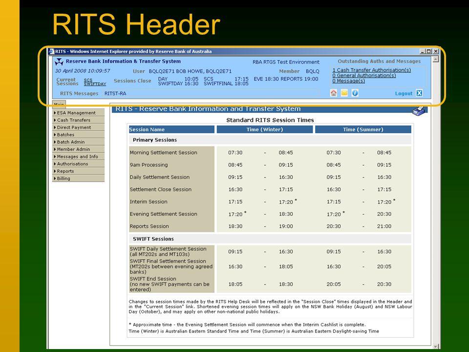 RITS Header