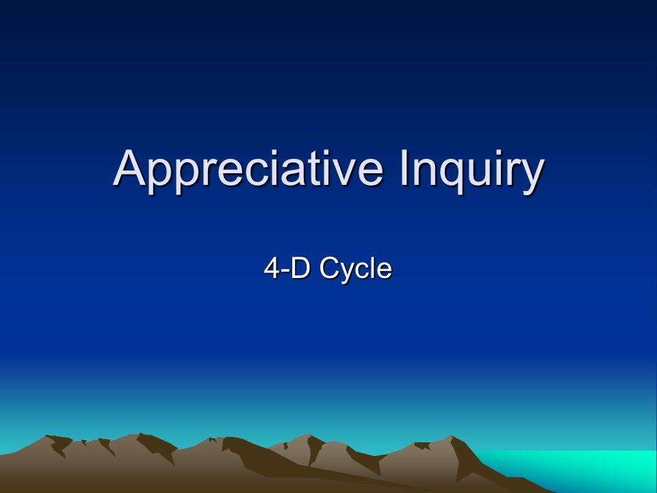 Appreciative Inquiry 4-D Cycle