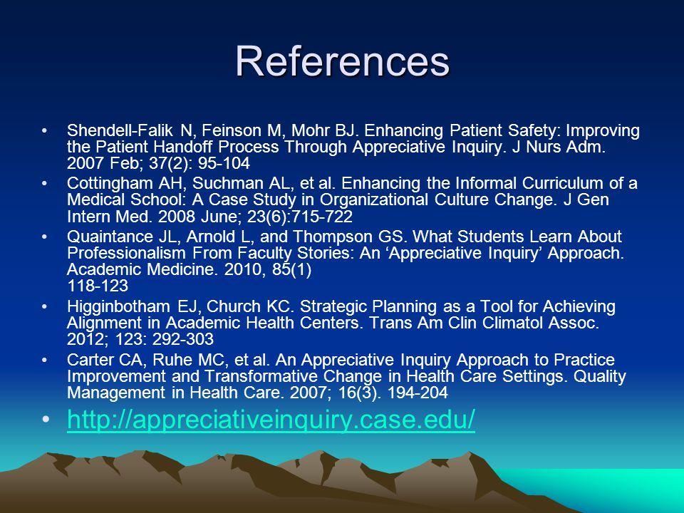 References Shendell-Falik N, Feinson M, Mohr BJ.