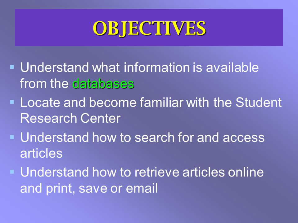 EBSCOhost – 5 key steps Think about how you structure your SEARCH - phrases, truncation, boolean Search Use the FACETS to focus your search and refine the results Facets Browse RESULTS to look for full text, custom links, request options Result Use the FOLDER to collect articles to send on - log in to store these virtually Folder Do you need to SAVE or set up an ALERT to a search or publication Save/ Alert