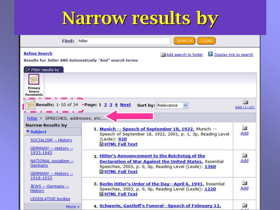 Narrow results by