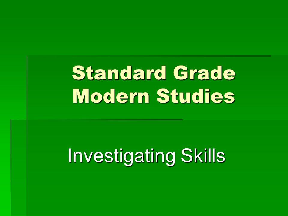 Standard Grade Modern Studies Investigating Skills