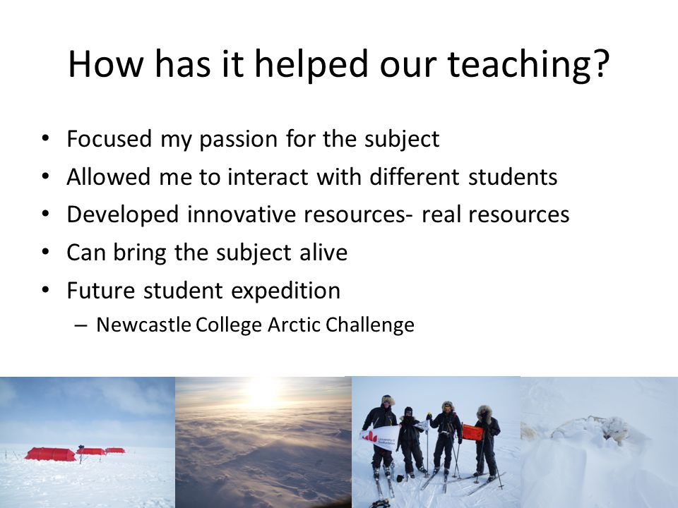How has it helped our teaching.