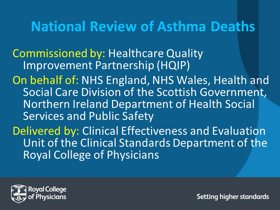 Supporting partners Eastern Region Confidential Enquiry of Asthma Deaths