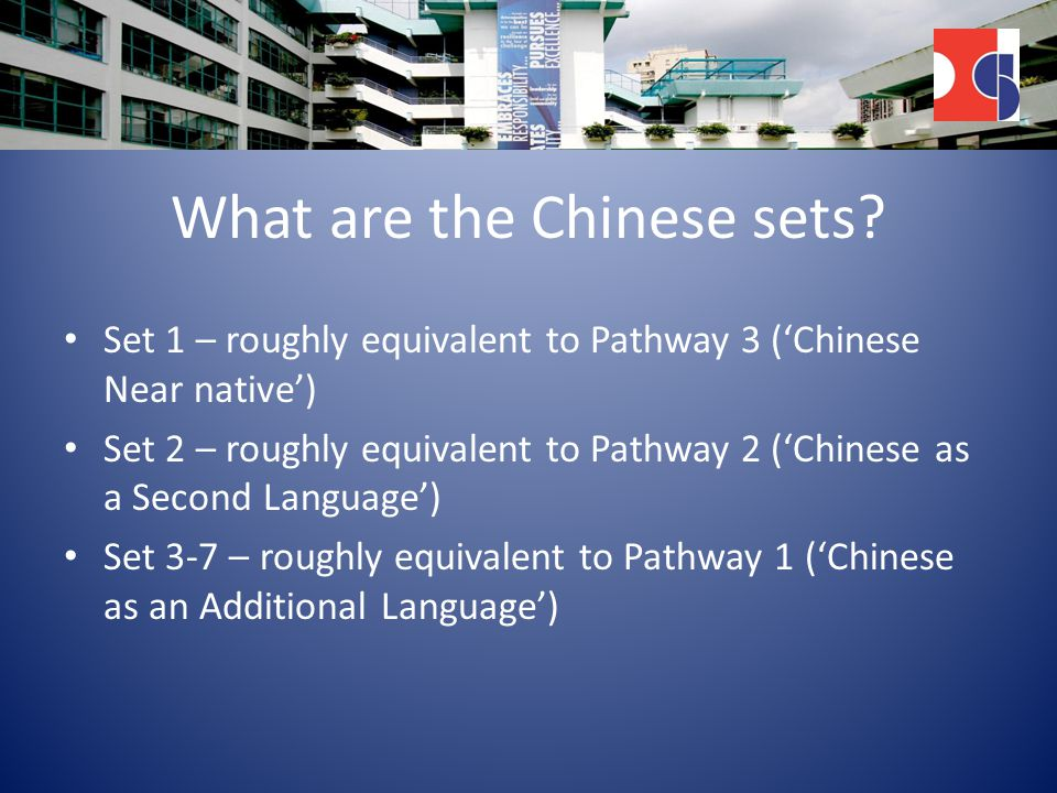 What are the Chinese sets.
