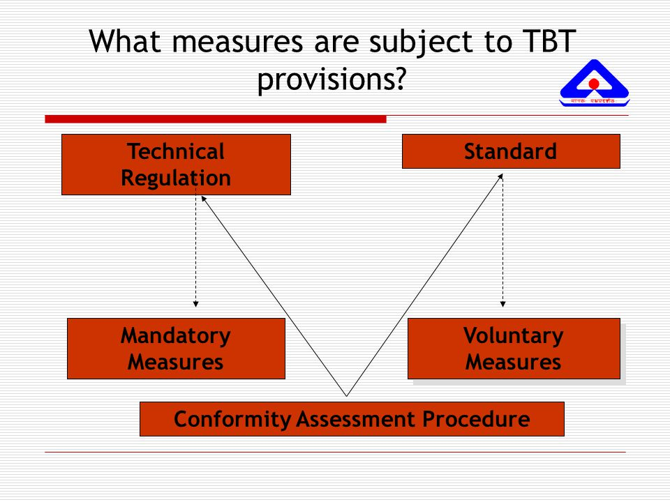 Main Disciplines of the TBT Agreement Harmonization Avoidance of unnecessary obstacles to trade Avoidance of unnecessary obstacles to trade Non - Discrimination