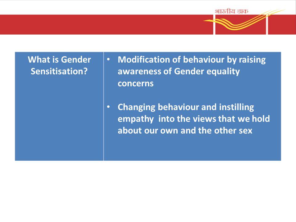 What is Gender Sensitisation.