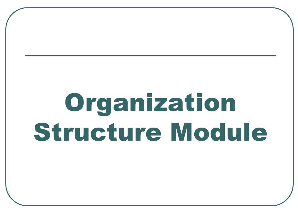 Organization Structure Module