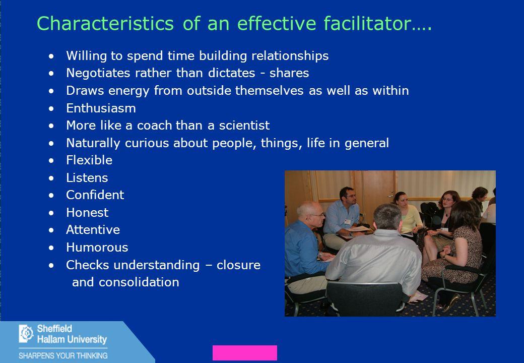 37 Characteristics of an effective facilitator….