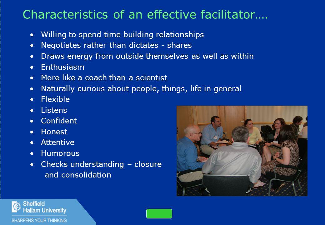 43 Characteristics of an effective facilitator….