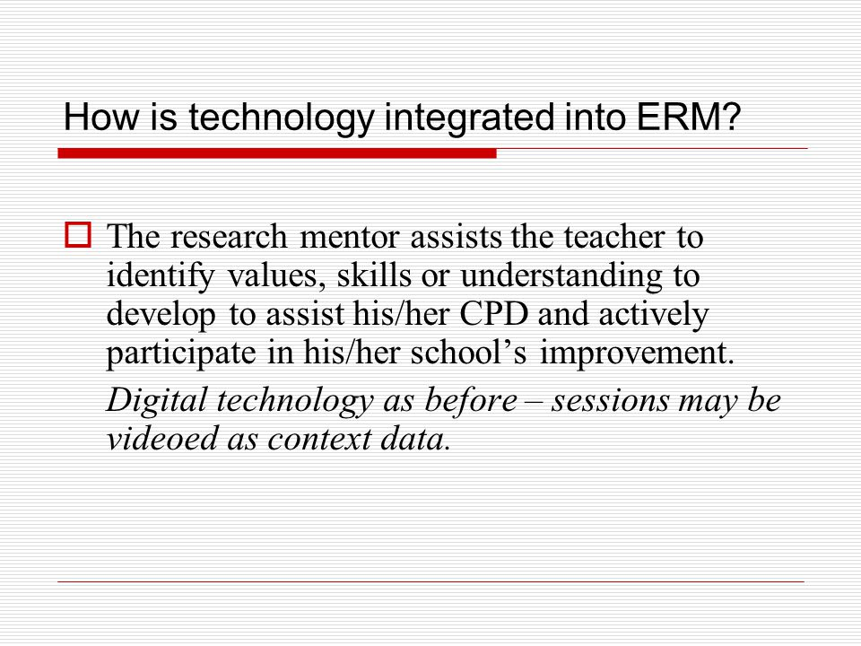 How is technology integrated into ERM.