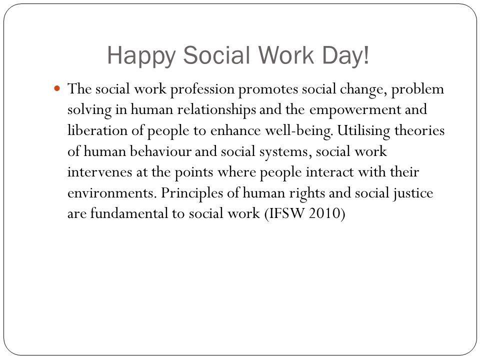 Happy Social Work Day.