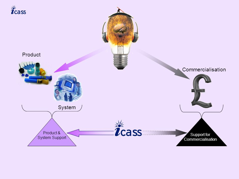 Commercialisation Product System Product & System Support Support for Commercialisation