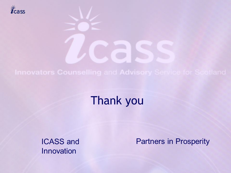 Thank you ICASS and Innovation Partners in Prosperity