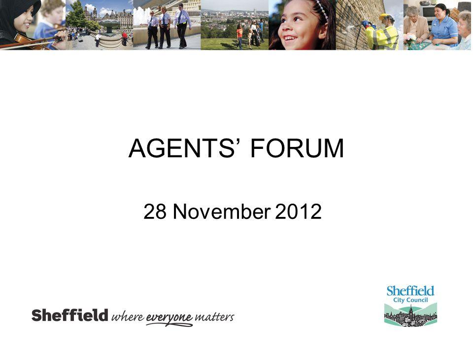 AGENTS' FORUM 28 November 2012