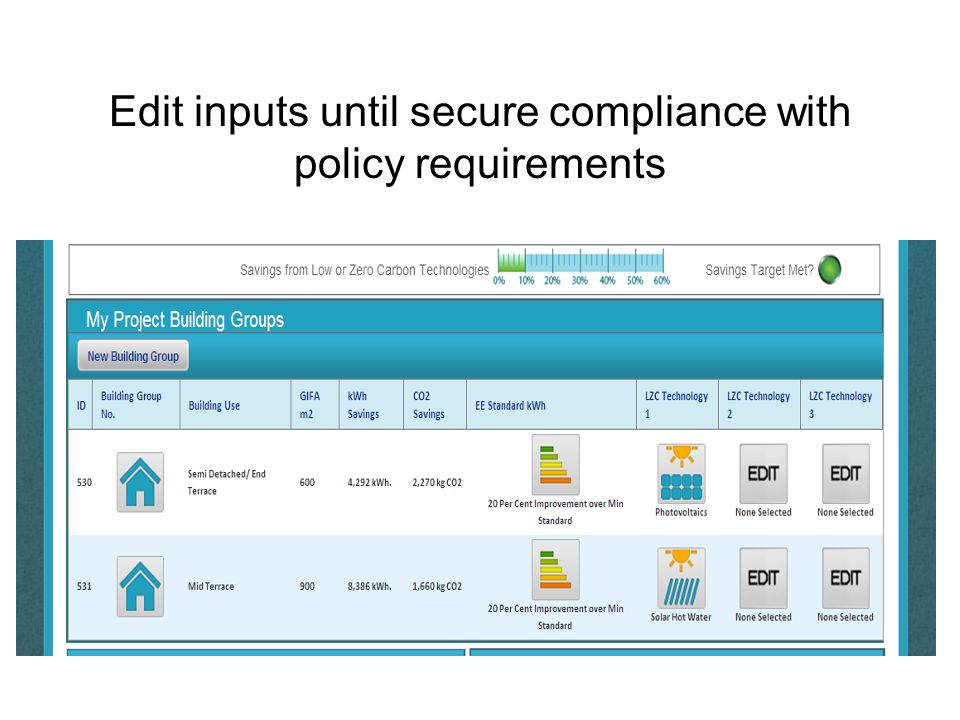 Edit inputs until secure compliance with policy requirements