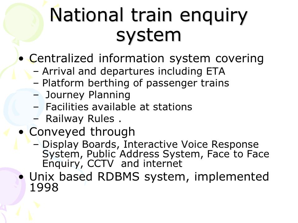 national rly enquiry