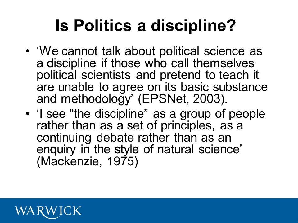 Is Politics a discipline.