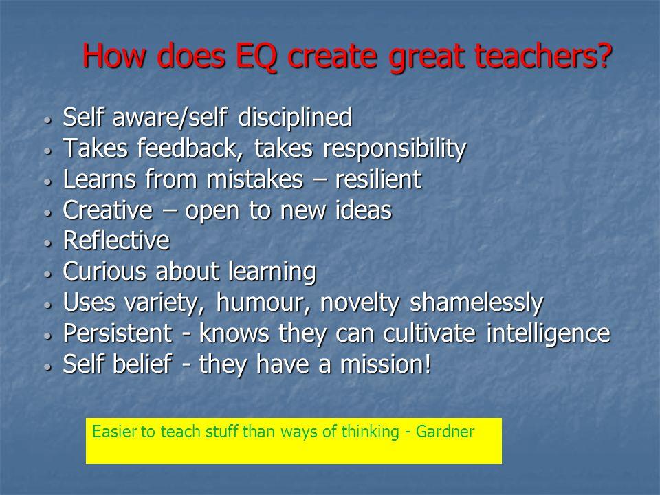 How does EQ create great teachers.