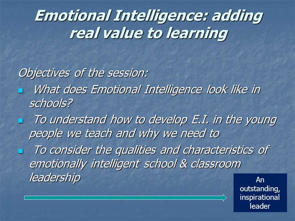 A lesson that develop EQ...