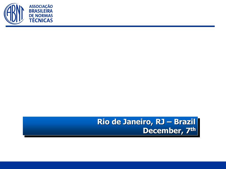THE BRAZILIAN ASSOCIATION FOR STANDARDIZATION