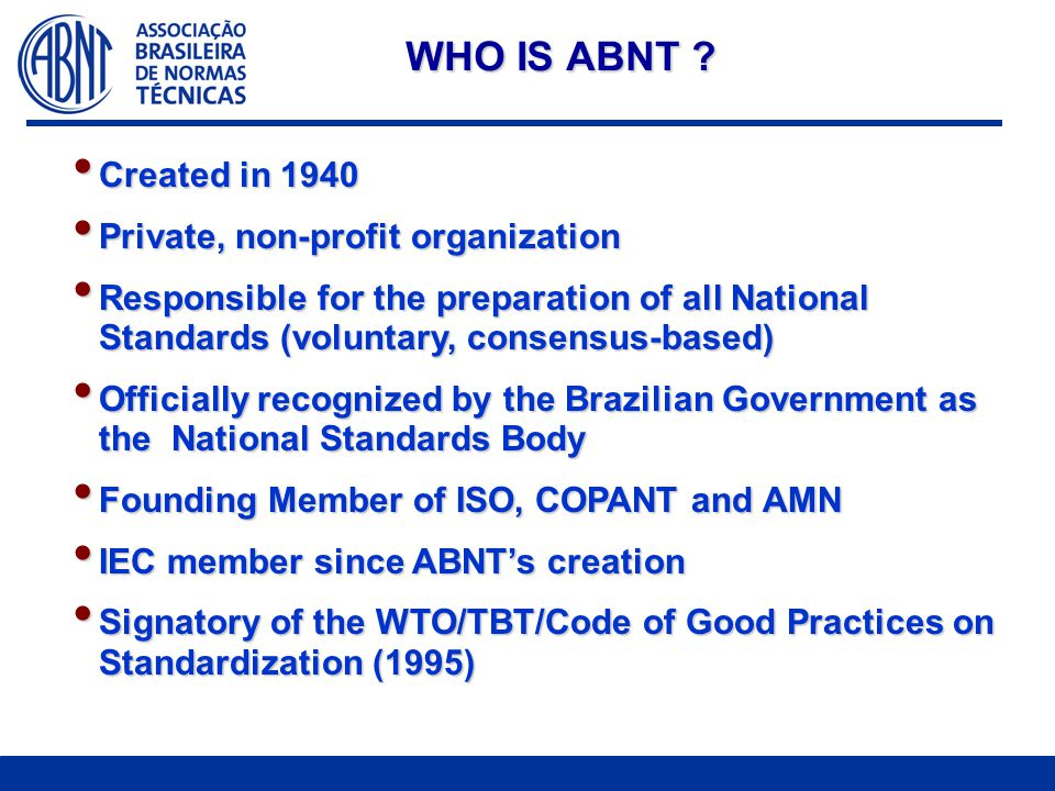 WHO IS ABNT .