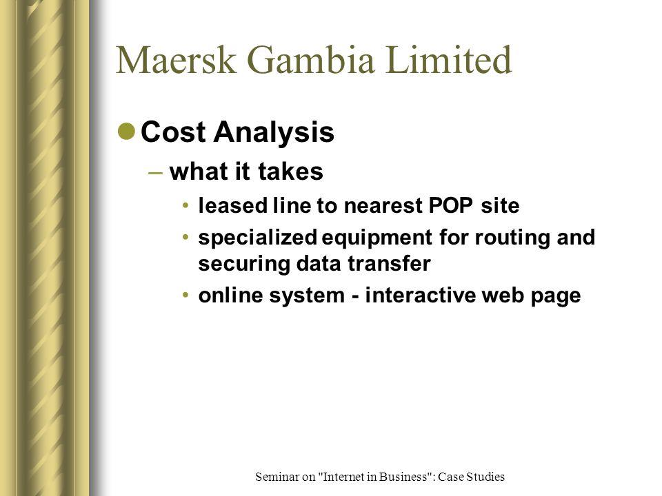 Seminar on Internet in Business : Case Studies Http://www.maersksealand.dk