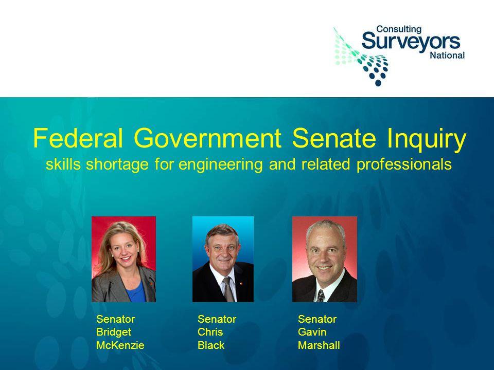 Federal Government Senate Inquiry skills shortage for engineering and related professionals Senator Bridget McKenzie Senator Chris Black Senator Gavin Marshall