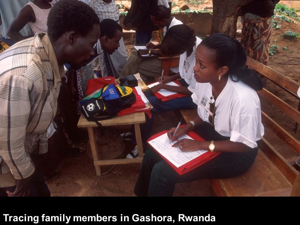 Tracing family members in Gashora, Rwanda
