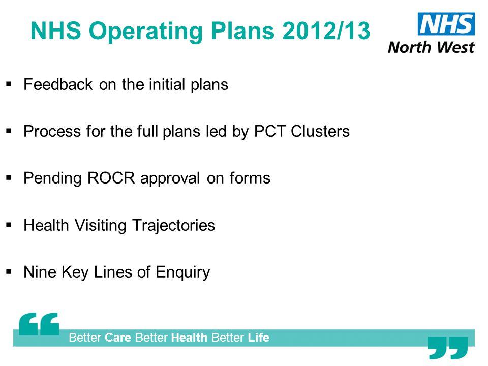 Healthier Horizons Health Visitor update 06 February 2012