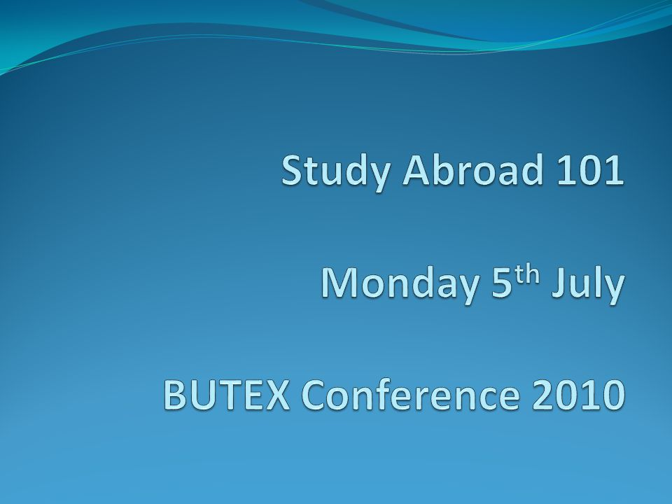 What do we mean by Study Abroad/Mobility.