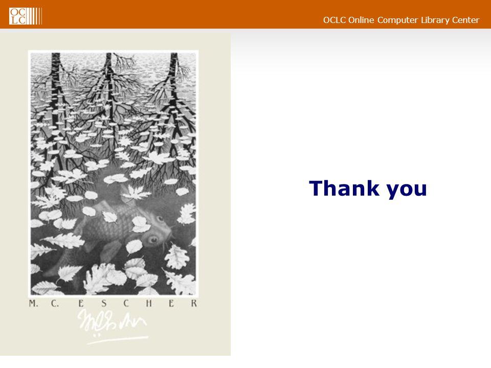 OCLC Online Computer Library Center Thank you