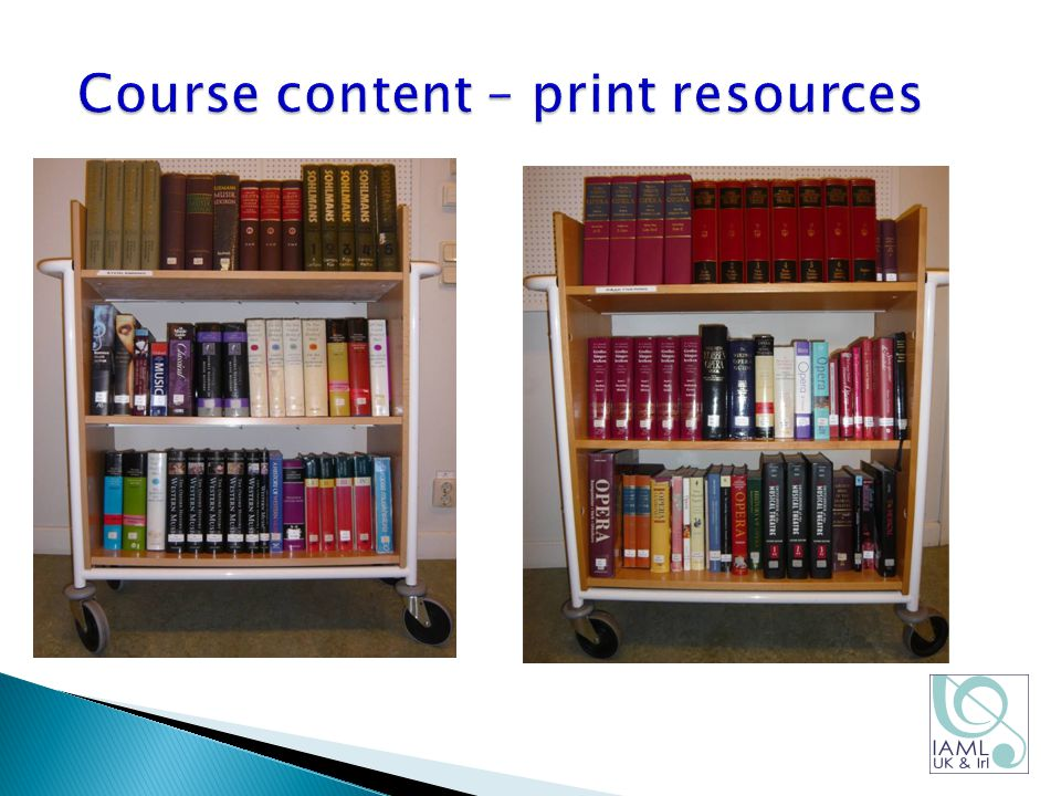 Course content – print resources