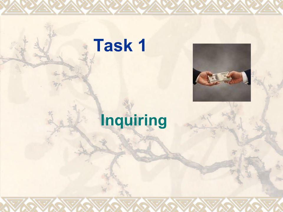 Task 1 Inquiring