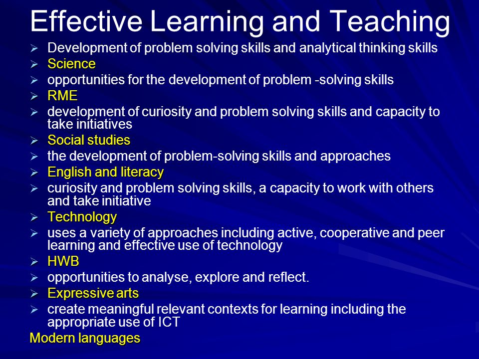 Learning and Teaching Active learning ContextInterdisciplinaryTechnology AIFL AIFL Problem Solving