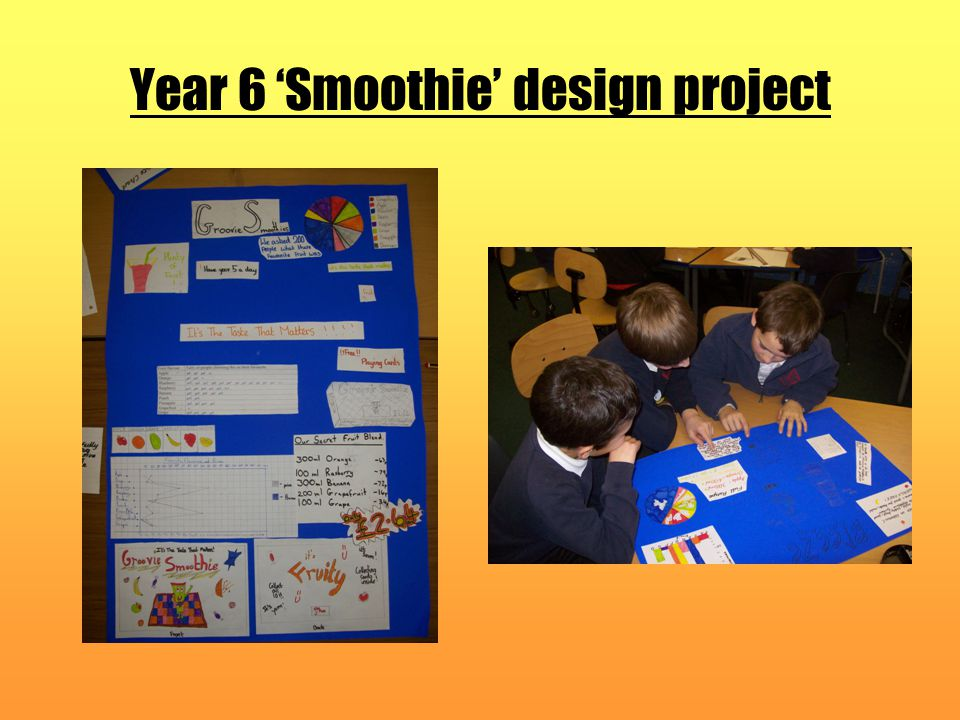 Year 6 'Smoothie' design project