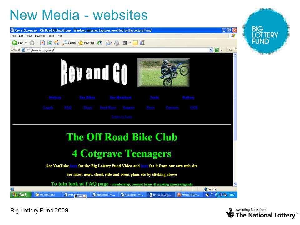 Big Lottery Fund 2009 New Media - websites