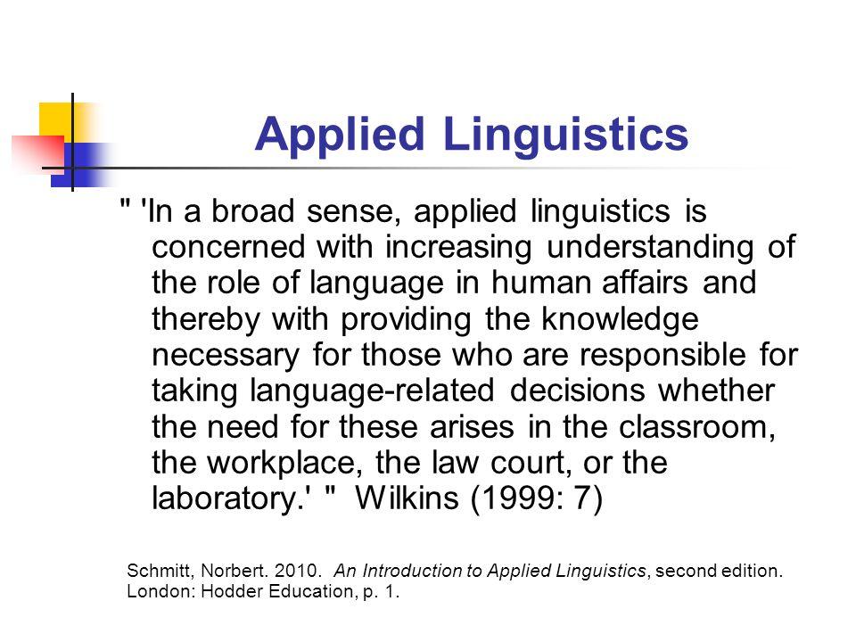 Applied Linguistics