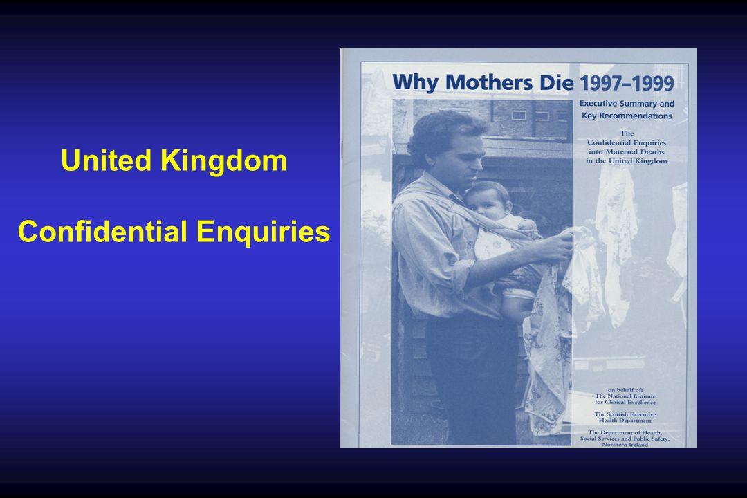 United Kingdom Confidential Enquiries