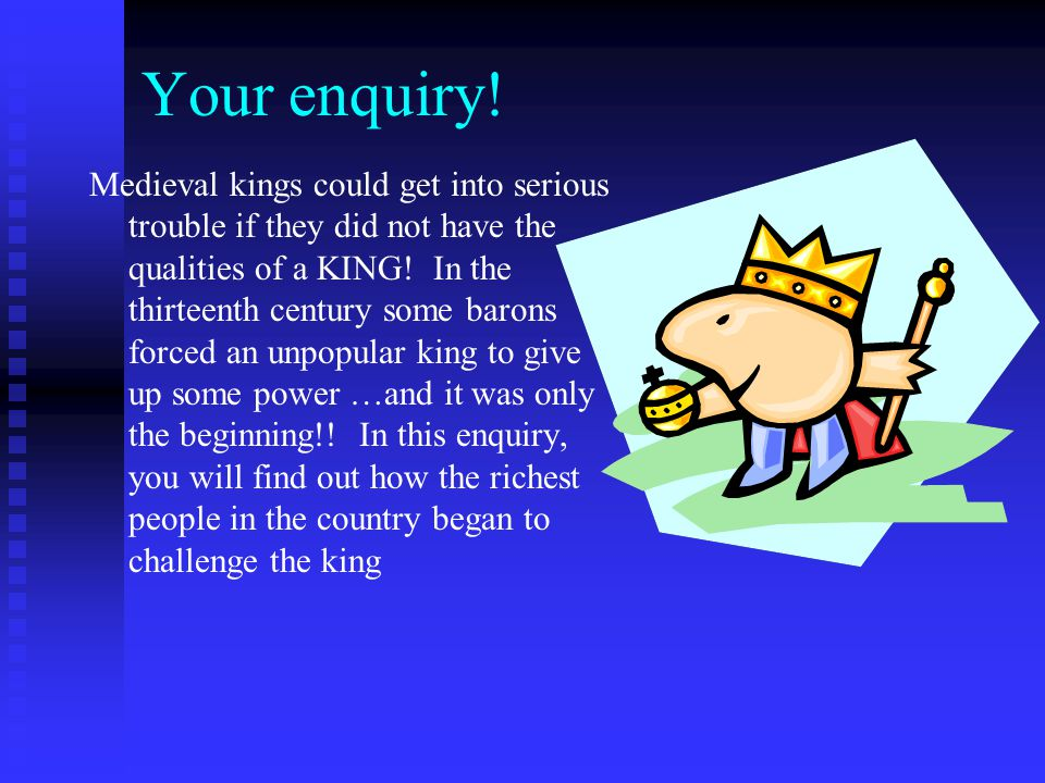 King John manages to upset everyone!.The first king to give up some of his power was John.