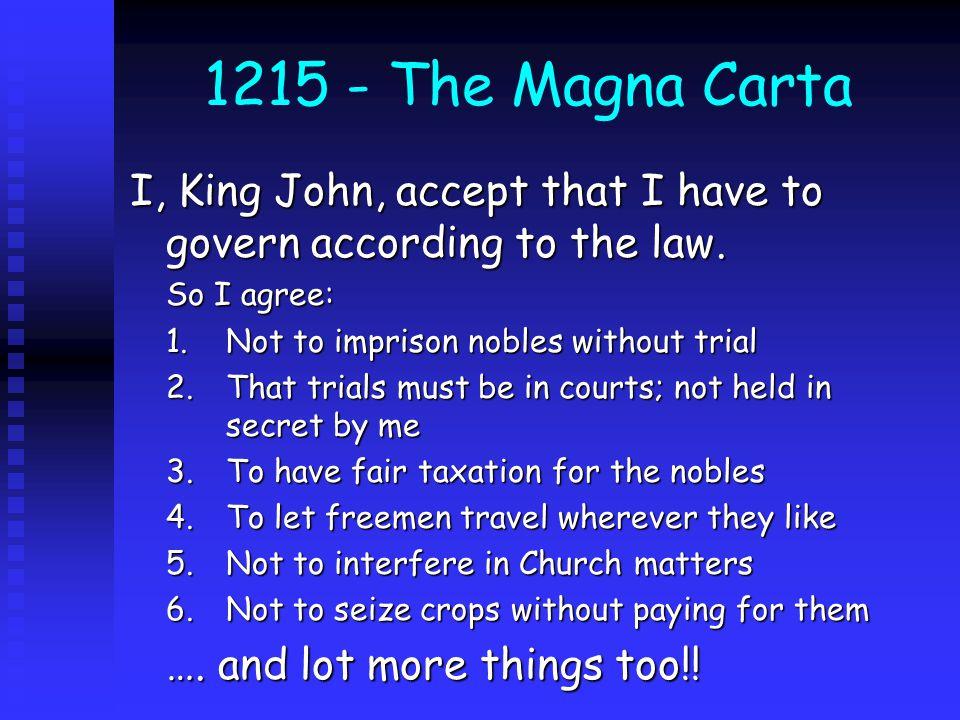 The Magna Carta?.