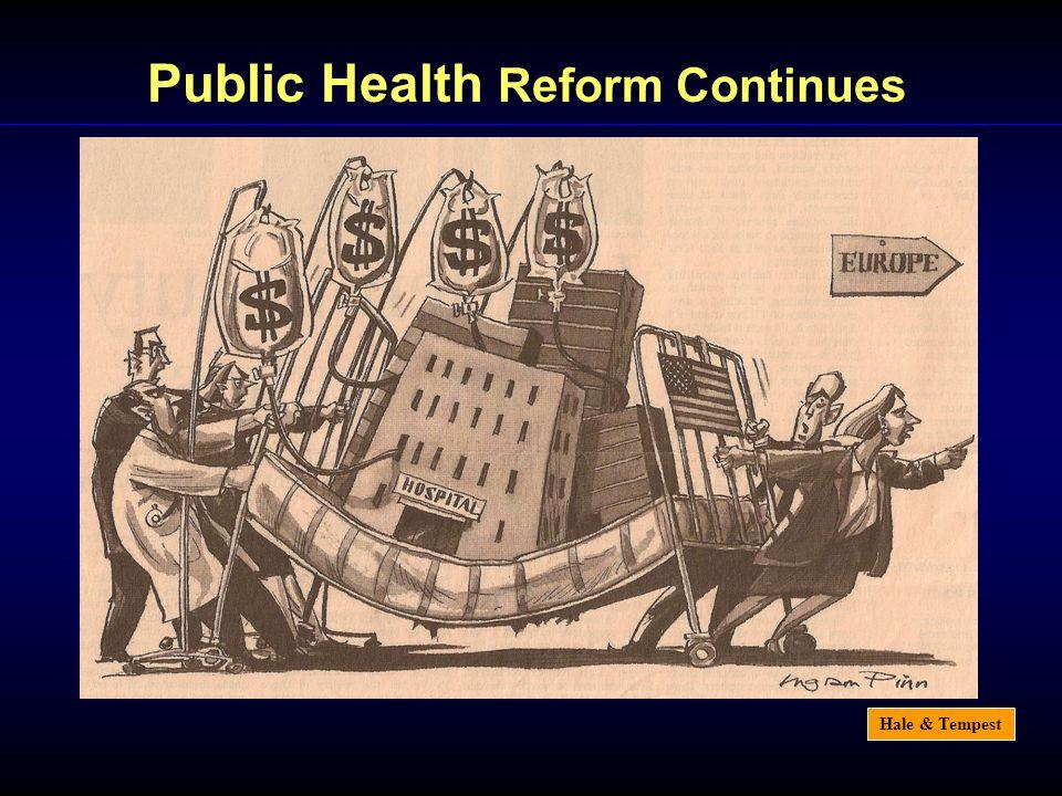 Hale & Tempest Public Health Reform Continues