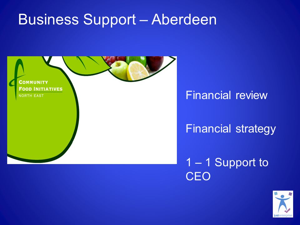 Business Support – Aberdeen Financial review Financial strategy 1 – 1 Support to CEO