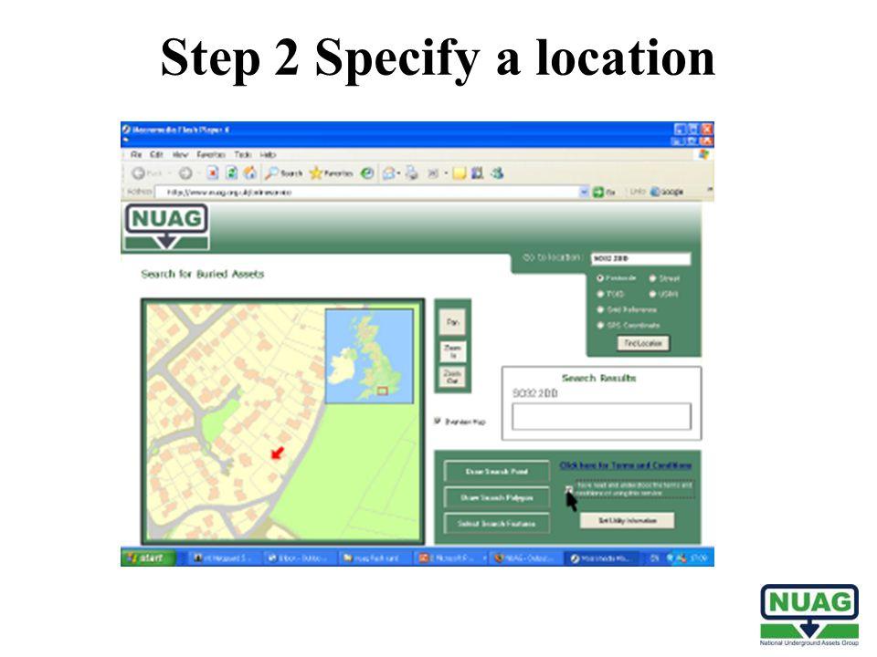 Step 2 Specify a location