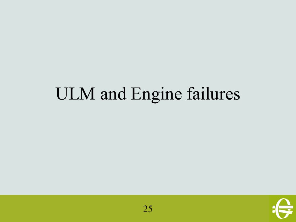 25 ULM and Engine failures
