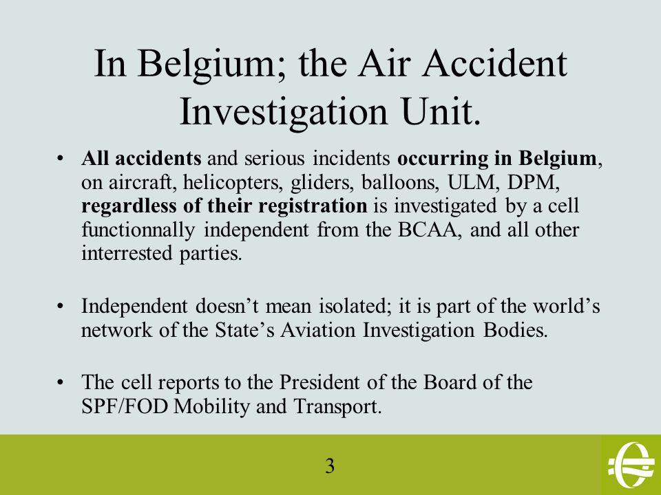 34 Evolution: new EU Regulation on Accident Investigation.