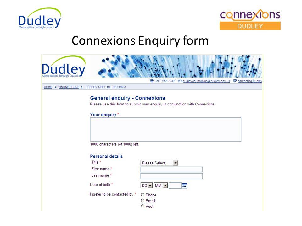 Connexions Enquiry form