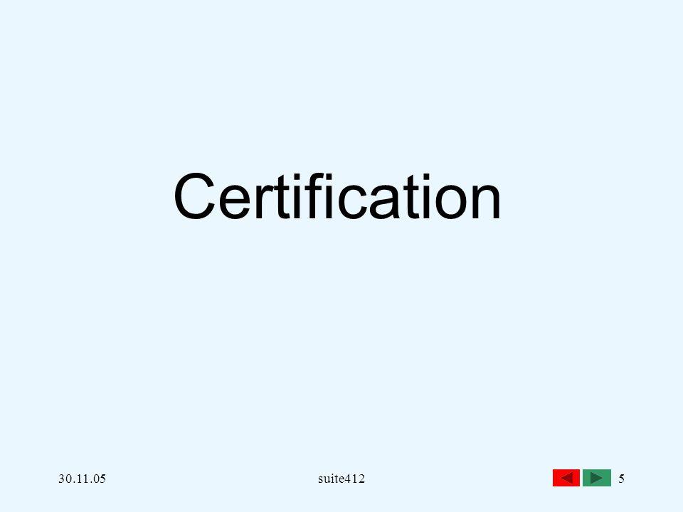 30.11.05suite4125 Certification
