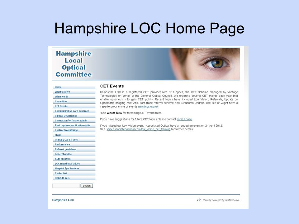 Hampshire LOC Home Page